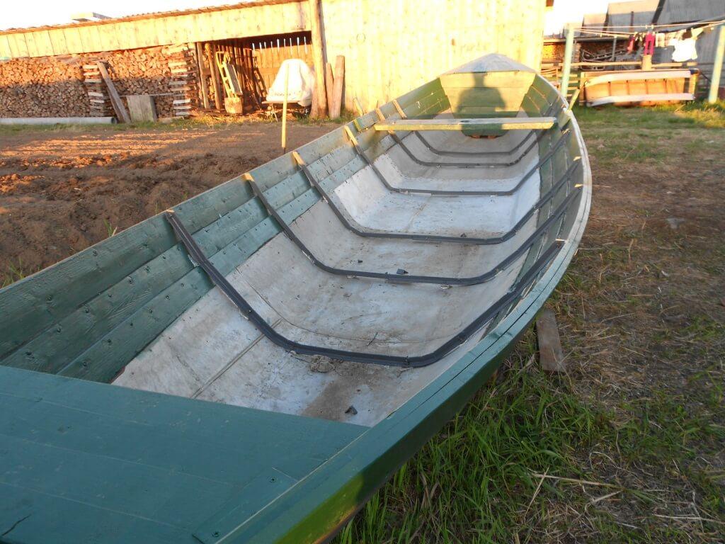 Лодка из космического металла в селе Койда