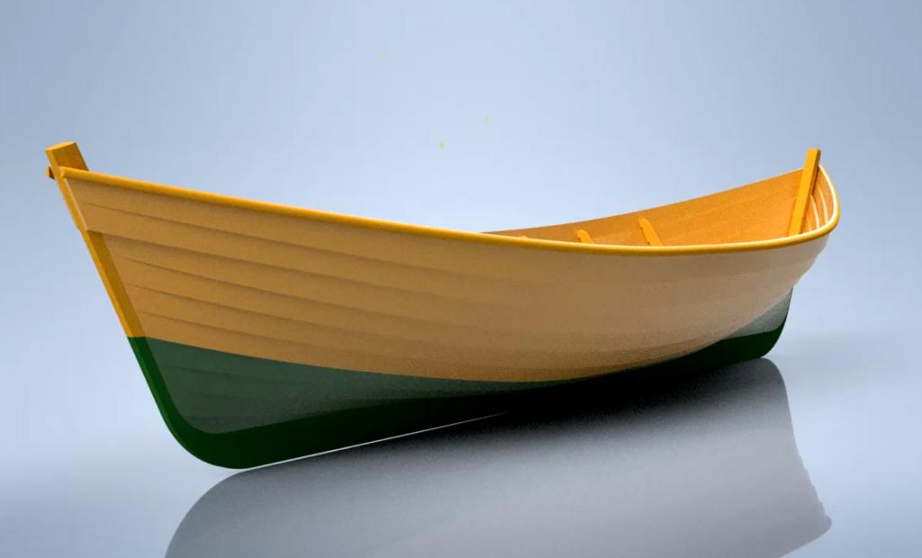Цифровой прототип карбаса Вашка. Выполнен в Autodesk Inventor