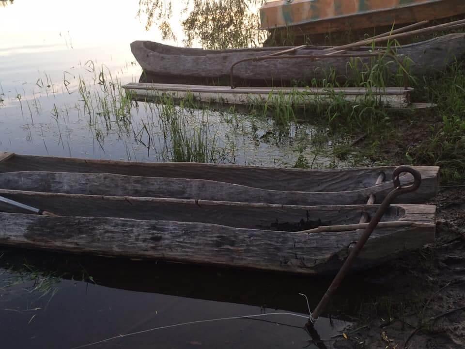 Лодки-долблёнки из посёлка Шалакуша Няндомского района
